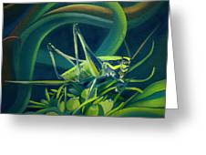 Card Of Mister Grasshopper Greeting Card