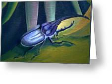Card Of Nosey Bug Greeting Card