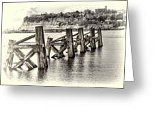 Cardiff Bay Old Jetty Supports Opal Greeting Card