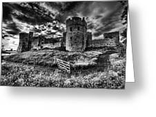 Carew Castle Pembrokeshire 4 Mono Greeting Card
