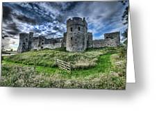 Carew Castle Pembrokeshire 4 Greeting Card