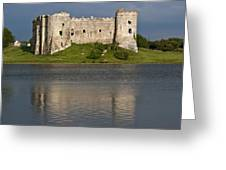 Carew Castle Reflections Greeting Card