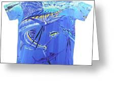 Carey Chen Mens Sailfish Shirt Greeting Card