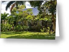 Caribbean Garden Greeting Card