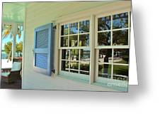 Caribbean Reflective Window Greeting Card