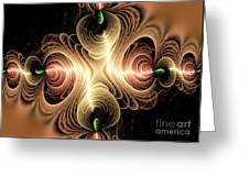 Caribbean Wave - The Beauty Of Simple Fractals Greeting Card by Vidka Art