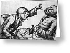 Caricature Of Two Alcoholics, 1773 Greeting Card by Science Source
