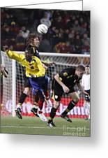 Carles Puyol Jumping Greeting Card