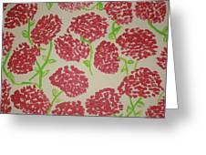 Carnation Field Greeting Card