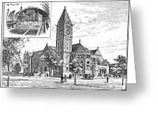 Carnegie Library, 1890 Greeting Card
