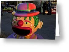 Carnival Clown Greeting Card