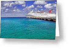 Carnival Elation Docked At Cozumel Greeting Card