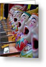 Carnival Of Clowns Greeting Card