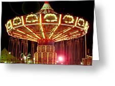 Carnival Swing Nite Greeting Card