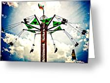 Carnival Swings Greeting Card