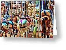 Carousel 7 - Fractals Greeting Card