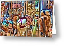 Carousel 7 Hdr Greeting Card