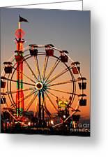 Carousel At Night Greeting Card