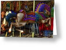 Carousel Beauties Going Away Greeting Card