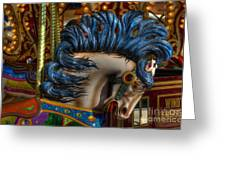 Carousel Beauty Star Of The Show Greeting Card