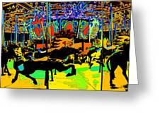 Carousel Colors Greeting Card