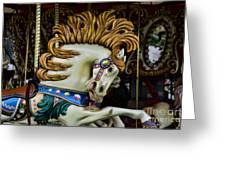 Carousel Horse - 4 Greeting Card