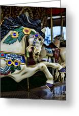 Carousel Horse 5 Greeting Card by Paul Ward