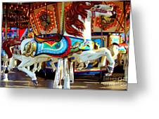 Carousel Horse With Fish Greeting Card