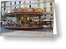 Carousel In Florence Greeting Card