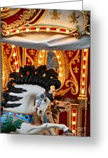 Carousel In Motion Greeting Card