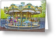 Carousel Ride In Pittsburgh Pennsylvania Greeting Card