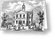 Carpenters Hall, 1855 Greeting Card
