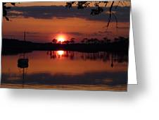 Carrabelle Sunset Greeting Card