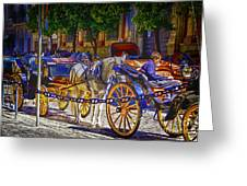Carrage Waiting Greeting Card