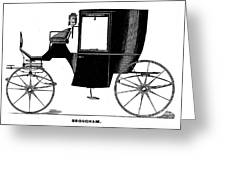 Carriage: Brougham Greeting Card