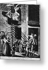 Carriage Cartoon, 1776 Greeting Card