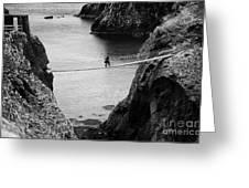 Carrick A Rede Rope Bridge County Antrim Ireland Greeting Card