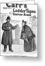 Carrs Ladder Tapes, 1897 Greeting Card