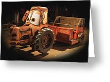 Cars Land Cow Tractor Greeting Card