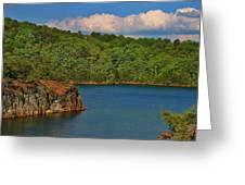 Carters Lake In Georgia Greeting Card