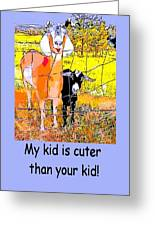 Cartoon Kid Greeting Card by Myrna Migala