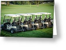Carts Ready To Hit The Greens Greeting Card
