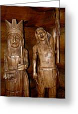 Carved American Indians Greeting Card