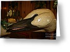 Carved Goose Greeting Card