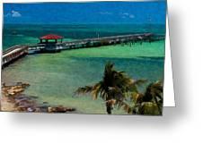 Casa Marina Pier Greeting Card