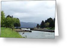 Cascade Locks Greeting Card