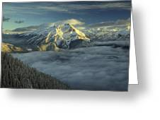 Cascade Mountain Banff Greeting Card
