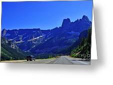 Cascade Mountain Range Greeting Card