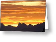 Cascade Mountains Sunrise 1 Greeting Card
