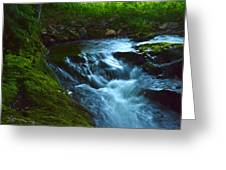Cascades Before The Falls Greeting Card